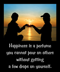 Happiness Pours Onto Others