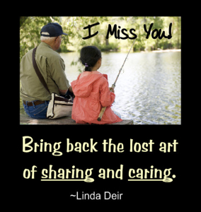 Bring Back The Lost Art Of Sharing And Caring