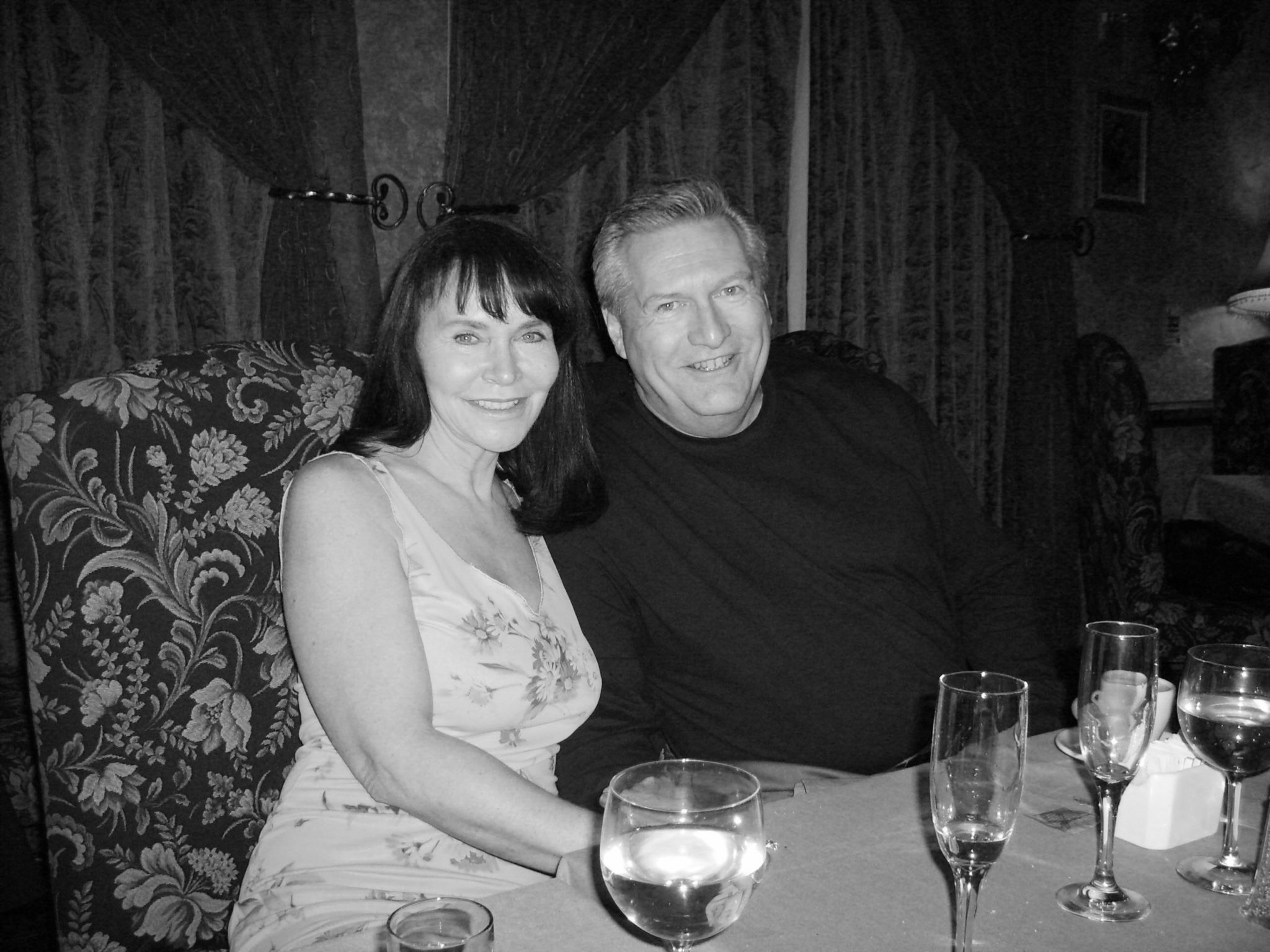 Ray & Linda at dinner