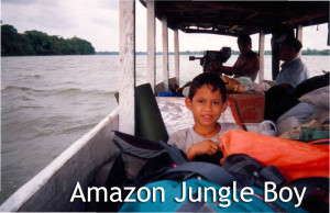 Amazon Jungle Boy . Linda Deir took picture.