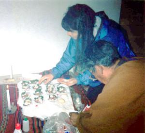 Bolivia Shaman Preparing Sacred Ceremony with Linda Deir