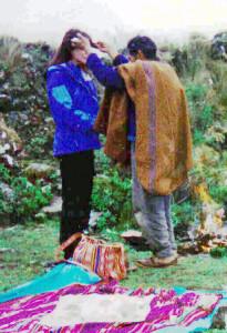 Bolivia Shaman, Papa Pablo, Blessing Linda Deir