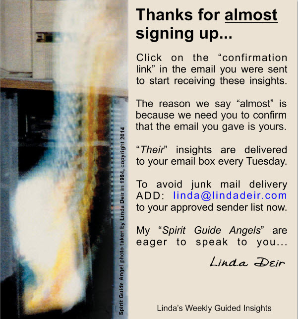 Thank you for signing up to Linda's Weekly Guided Insights