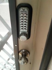 Linda's front door lock
