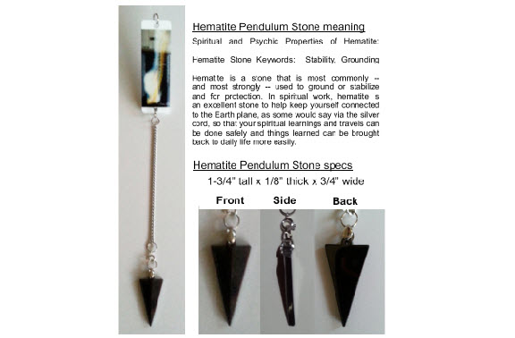 Hematite pendulum - Point of Contact