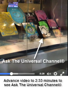 Ask The Universal Channel® is on display at the San Francisco Airport talking board exhibit