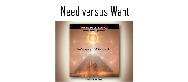 Need versus Want
